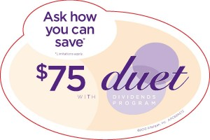 $75 Dollar Savings with Duet Treatment