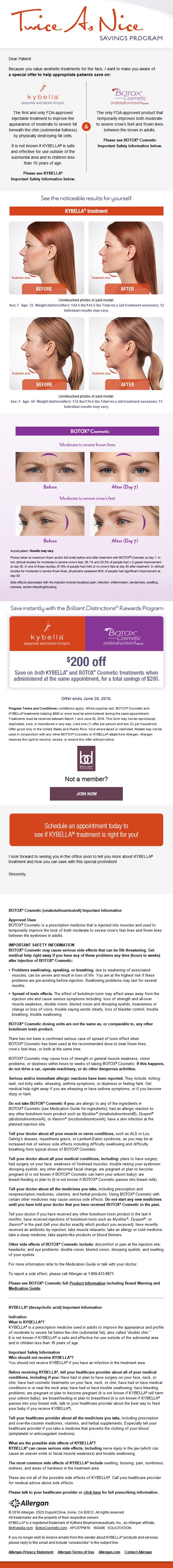 Kybella Information - Having trouble seeing this? Please contact our office for details
